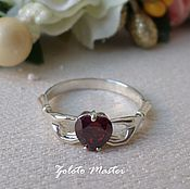 Украшения handmade. Livemaster - original item A silver ring with garnet