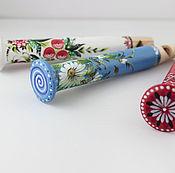 Русский стиль ручной работы. Ярмарка Мастеров - ручная работа Деревянная расписная игрушка-свистулька Дудочка. Handmade.
