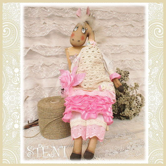 """Игрушки животные, ручной работы. Ярмарка Мастеров - ручная работа. Купить Текстильная кукла """"Лошадка Рози"""". Handmade. Розовый, кукла"""