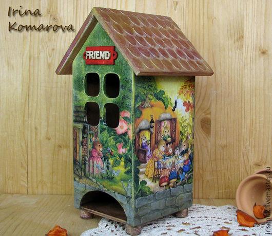 """Кухня ручной работы. Ярмарка Мастеров - ручная работа. Купить """"Там, где живет счастье..."""" чайный домик. Handmade."""