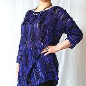 """Одежда ручной работы. Ярмарка Мастеров - ручная работа Туника-кимоно """"Черничный вечер"""". Handmade."""