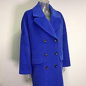 Одежда ручной работы. Ярмарка Мастеров - ручная работа Синее пальто оверсайз. Handmade.