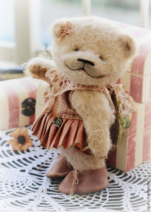 Мишки Тедди ручной работы. Ярмарка Мастеров - ручная работа. Купить Бетти. авторский мишка-тедди ручной работы. Handmade.
