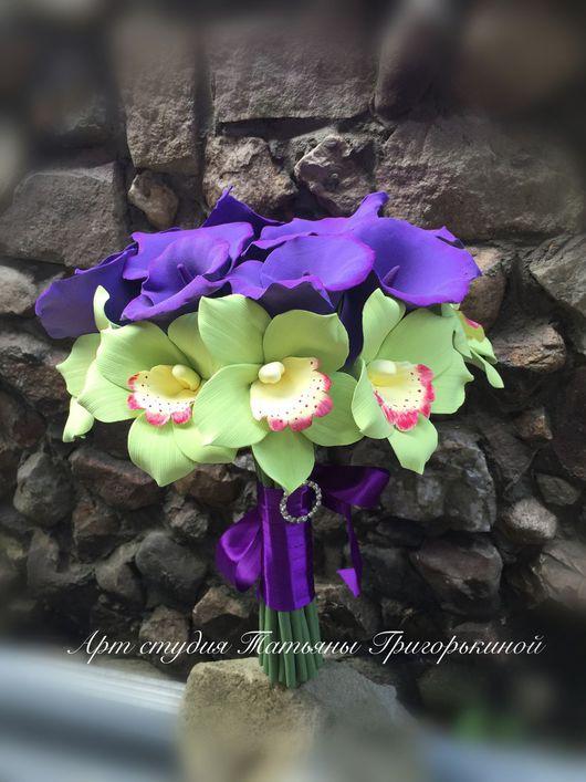 Букеты ручной работы. Ярмарка Мастеров - ручная работа. Купить Букет невесты с Каллами и Орхидеями. Handmade. Букет, свадебный букет