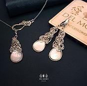 Украшения handmade. Livemaster - original item Earrings and pendant