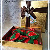 Подарки к праздникам ручной работы. Ярмарка Мастеров - ручная работа Новогодняя гирлянда. Handmade.