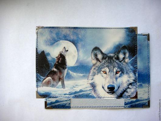 """Персональные подарки ручной работы. Ярмарка Мастеров - ручная работа. Купить обложка для паспорта """"Волк"""". Handmade. Подарок, обложка на паспорт"""
