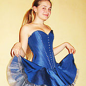 """Одежда ручной работы. Ярмарка Мастеров - ручная работа Платье """"Под небом голубым"""". Handmade."""