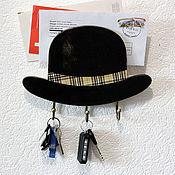 """Для дома и интерьера ручной работы. Ярмарка Мастеров - ручная работа Ключница """"Шляпа"""". Handmade."""