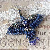 Украшения ручной работы. Ярмарка Мастеров - ручная работа Брошь синяя птица. Handmade.