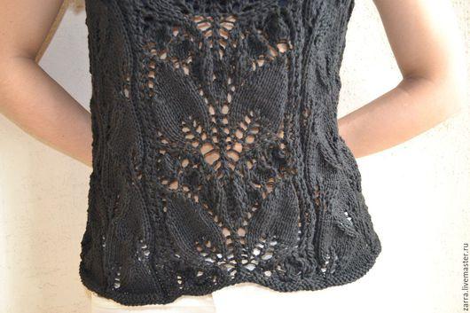 """Блузки ручной работы. Ярмарка Мастеров - ручная работа. Купить Женская блуза """" Южная ночь"""". Handmade. Черный"""