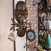 """Для дома и интерьера ручной работы. Ярмарка Мастеров - ручная работа Арт.3   Кованая скульптура """"Совушка"""". Handmade."""