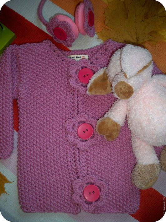 """Одежда для девочек, ручной работы. Ярмарка Мастеров - ручная работа. Купить Кардиган для девочки """"Розовые цветы"""". Handmade. Розовый"""