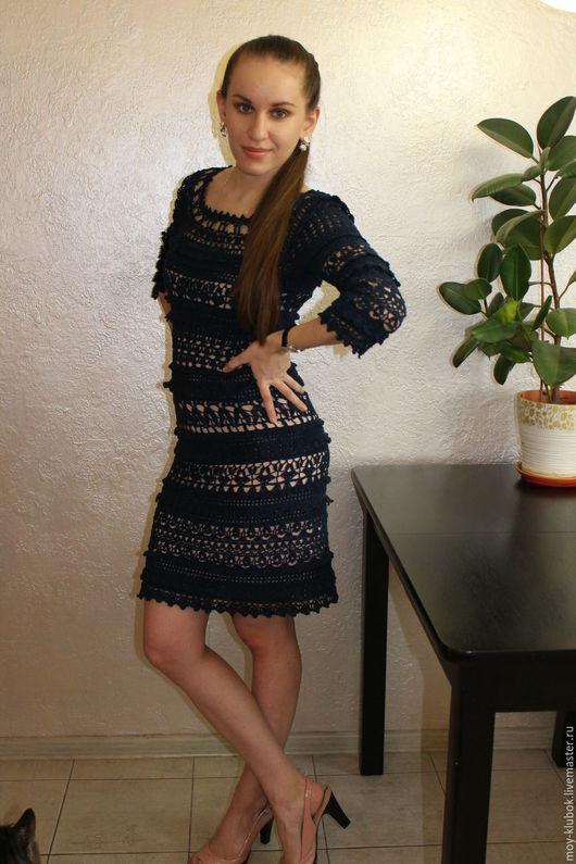 """Платья ручной работы. Ярмарка Мастеров - ручная работа. Купить Платье крючком по мотивам """"Оливии"""" Ванессы Монторо. Handmade."""