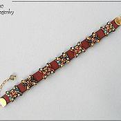 """Украшения ручной работы. Ярмарка Мастеров - ручная работа Кожаный браслет """"7 цветов"""". Handmade."""