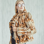 Одежда handmade. Livemaster - original item Biker jacket fox fur. Handmade.