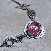 Украшения handmade. Livemaster - original item Necklace with tourmalines and beryl, silver and brass. Handmade.