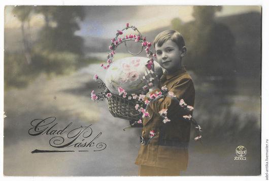 Винтажные сувениры. Ярмарка Мастеров - ручная работа. Купить Старинная шведская пасхальная открытка. Handmade. Открытка, винтаж, ребенок, Пасха