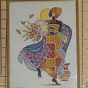 """Картины и панно ручной работы. Ярмарка Мастеров - ручная работа Вышитая картина """"Африканка"""". Handmade."""