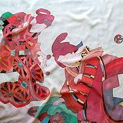 """Аксессуары ручной работы. Ярмарка Мастеров - ручная работа Батик платок""""Япония-2"""". Handmade."""