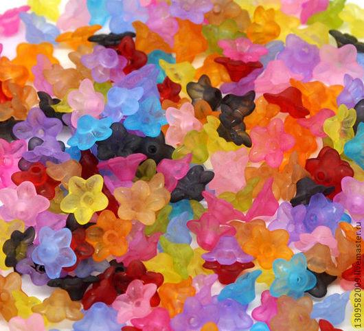 Другие виды рукоделия ручной работы. Ярмарка Мастеров - ручная работа. Купить Акриловые цветочки  10мм. Цена 1 руб./шт.. Handmade.