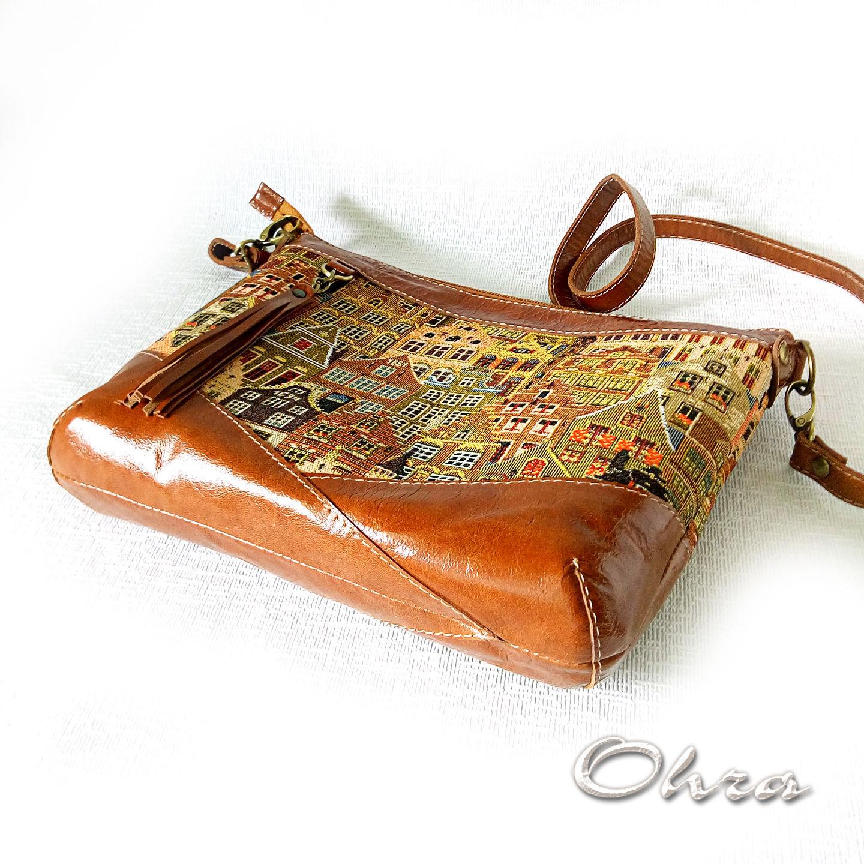 Кожаные мужские сумки из натуральной кожи для документов и