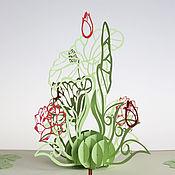 Подарки на 8 марта ручной работы. Ярмарка Мастеров - ручная работа Цветы Лилии - 3D открытка ручной работы. Handmade.