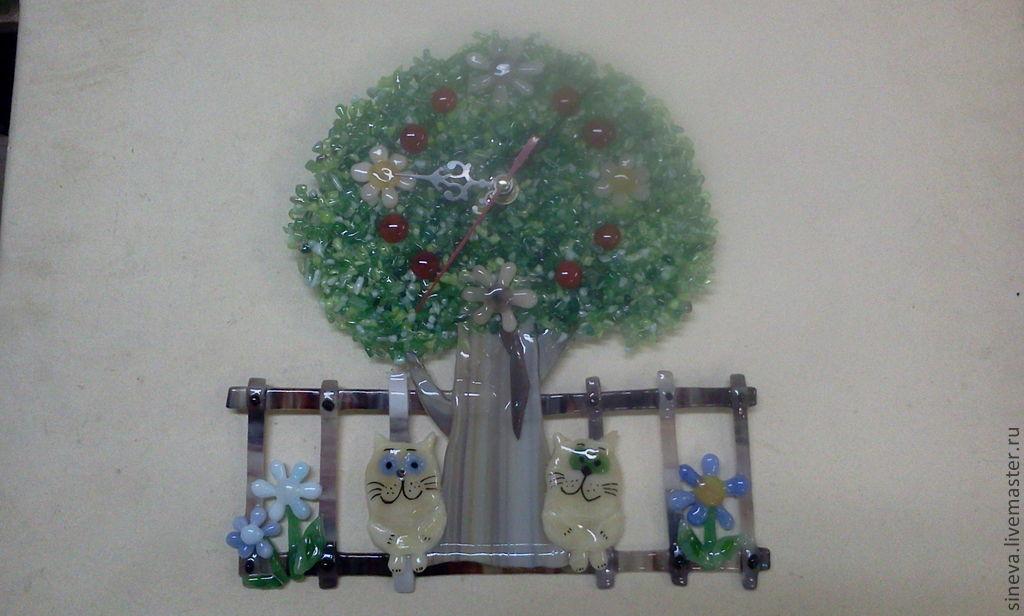 Часы Коты под деревом, Часы классические, Саратов,  Фото №1