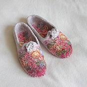 """Обувь ручной работы. Ярмарка Мастеров - ручная работа Тапочки """"Лизавета"""". Handmade."""