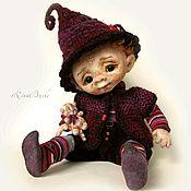 Куклы и игрушки ручной работы. Ярмарка Мастеров - ручная работа Валяный Гномик Эпл. Handmade.
