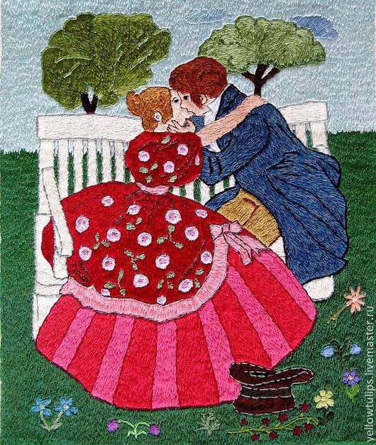 Люди, ручной работы. Ярмарка Мастеров - ручная работа. Купить Из дворянской жизни,век 19. Handmade. единственный экземпляр