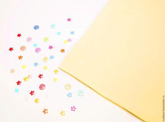 Шитье ручной работы. Ярмарка Мастеров - ручная работа. Купить Бязь желтая ГОСТ-100% хлопок-Ткань для рукоделия. Handmade.