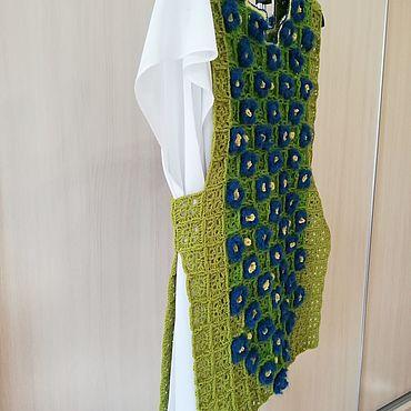 Одежда ручной работы. Ярмарка Мастеров - ручная работа Жилеты: синие цветы. Handmade.