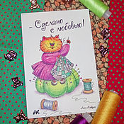 Открытки handmade. Livemaster - original item Card with a cat