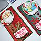 Новый год 2017 ручной работы. Ярмарка Мастеров - ручная работа. Купить Серия магнитов С Новым годом! Сувениры Подарки Коллегам Дед мороз. Handmade.