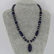 Украшения handmade. Livemaster - original item Necklace with pendant made of natural lapis lazuli stones