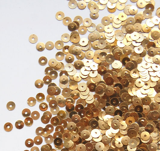 Пайетки металлические. Ярмарка мастеров - ручная работа. Купить пайетки 4 мм. Пайетки золотые 4 мм. Золотное шитье. HANDMADE.