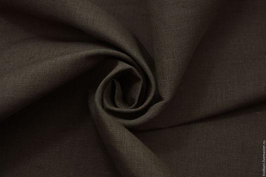 Шитье ручной работы. Ярмарка Мастеров - ручная работа. Купить Ткань льняная хаки арт.00856/1. Handmade. Хаки