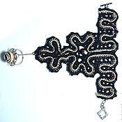Украшения ручной работы. Ярмарка Мастеров - ручная работа Чёрный кружевной браслет - перчатка. Handmade.