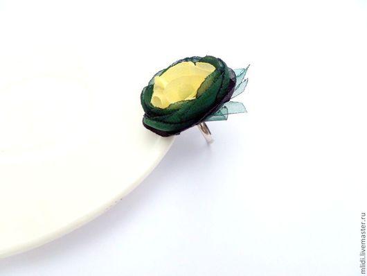 """Кольца ручной работы. Ярмарка Мастеров - ручная работа. Купить Цветок .  Кольцо  """" Изумрудное солнце """". Handmade."""