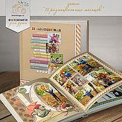 Дизайн и реклама ручной работы. Ярмарка Мастеров - ручная работа Шаблон фотокниги «12 разноцветных месяцев». Handmade.
