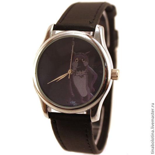 Часы ручной работы. Ярмарка Мастеров - ручная работа. Купить Дизайнерские наручные часы с Волком. Handmade. Наручные часы волк