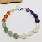 Украшения handmade. Livemaster - original item Four elements bracelet (amethyst, rose quartz, aventurine, carnelian). Handmade.