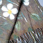handmade. Livemaster - original item Young - GREEN wool stole in the technique of nunofelting.. Handmade.