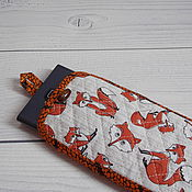 Сумки и аксессуары handmade. Livemaster - original item Phone case, Eyeglass Case, Made of Fabric, Cotton, Quilted, Chanterelles. Handmade.