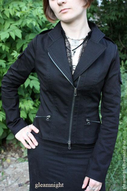 Верхняя одежда ручной работы. Ярмарка Мастеров - ручная работа. Купить Приталенная джинсовая куртка. Handmade. Тёмно-синий, на заказ