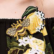 Украшения handmade. Livemaster - original item The brooch is embroidered LEMON Embroidery brooch lemon for the spring. Handmade.