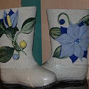 Обувь ручной работы. Ярмарка Мастеров - ручная работа Валенки Голубая мечта. Handmade.