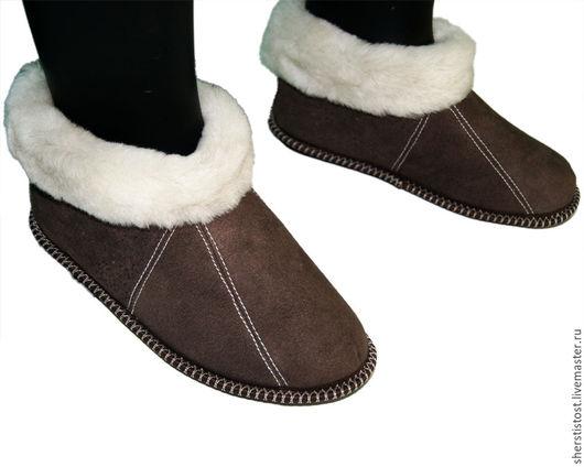 Обувь ручной работы. Ярмарка Мастеров - ручная работа. Купить Чуни из натурального овечьего меха на твердой подошве. Handmade. Чуни