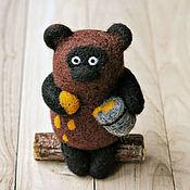 Куклы и игрушки ручной работы. Ярмарка Мастеров - ручная работа Винни-Пух (игрушка из шерсти). Handmade.